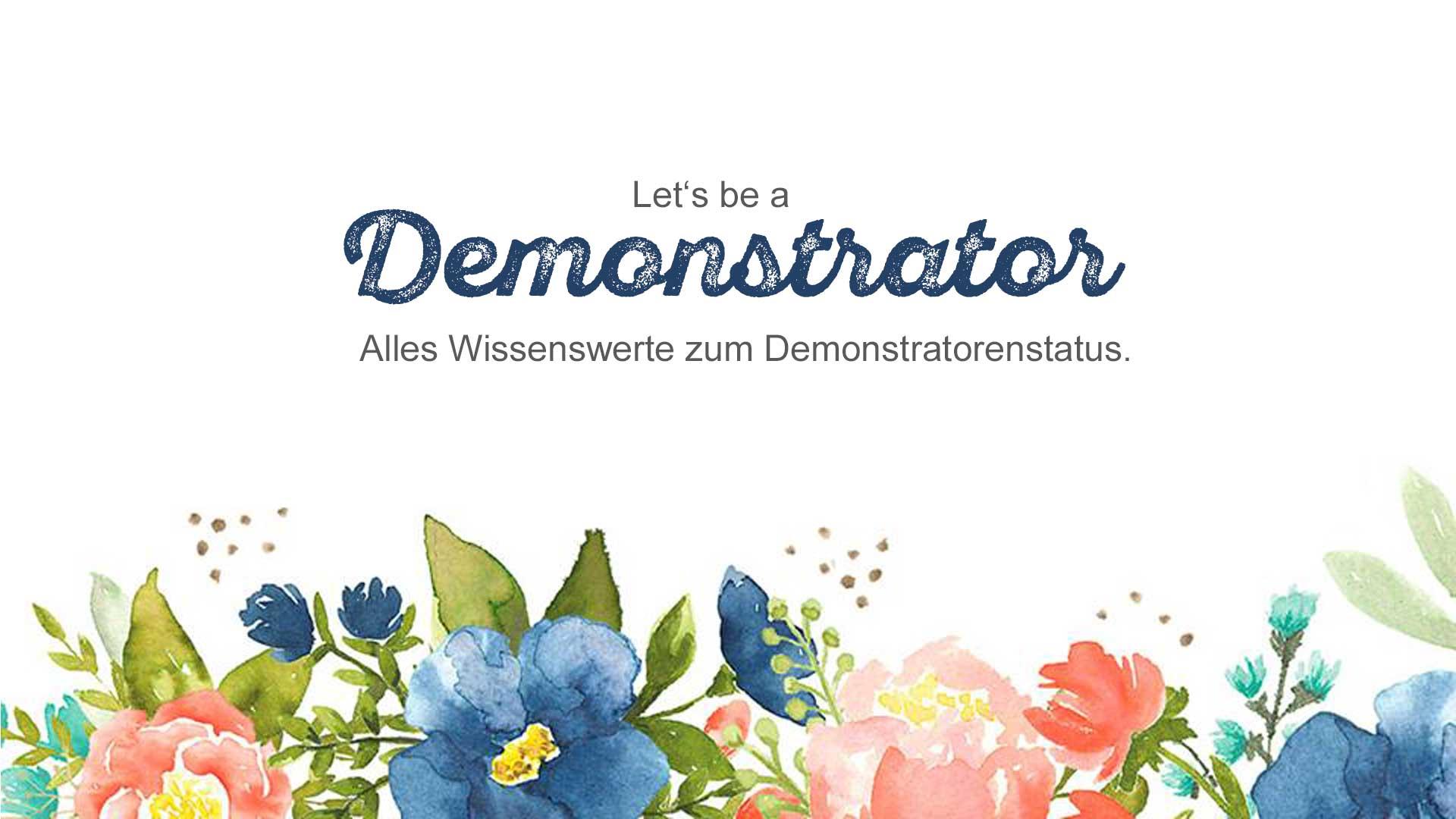 FAQ Demonstrator werden